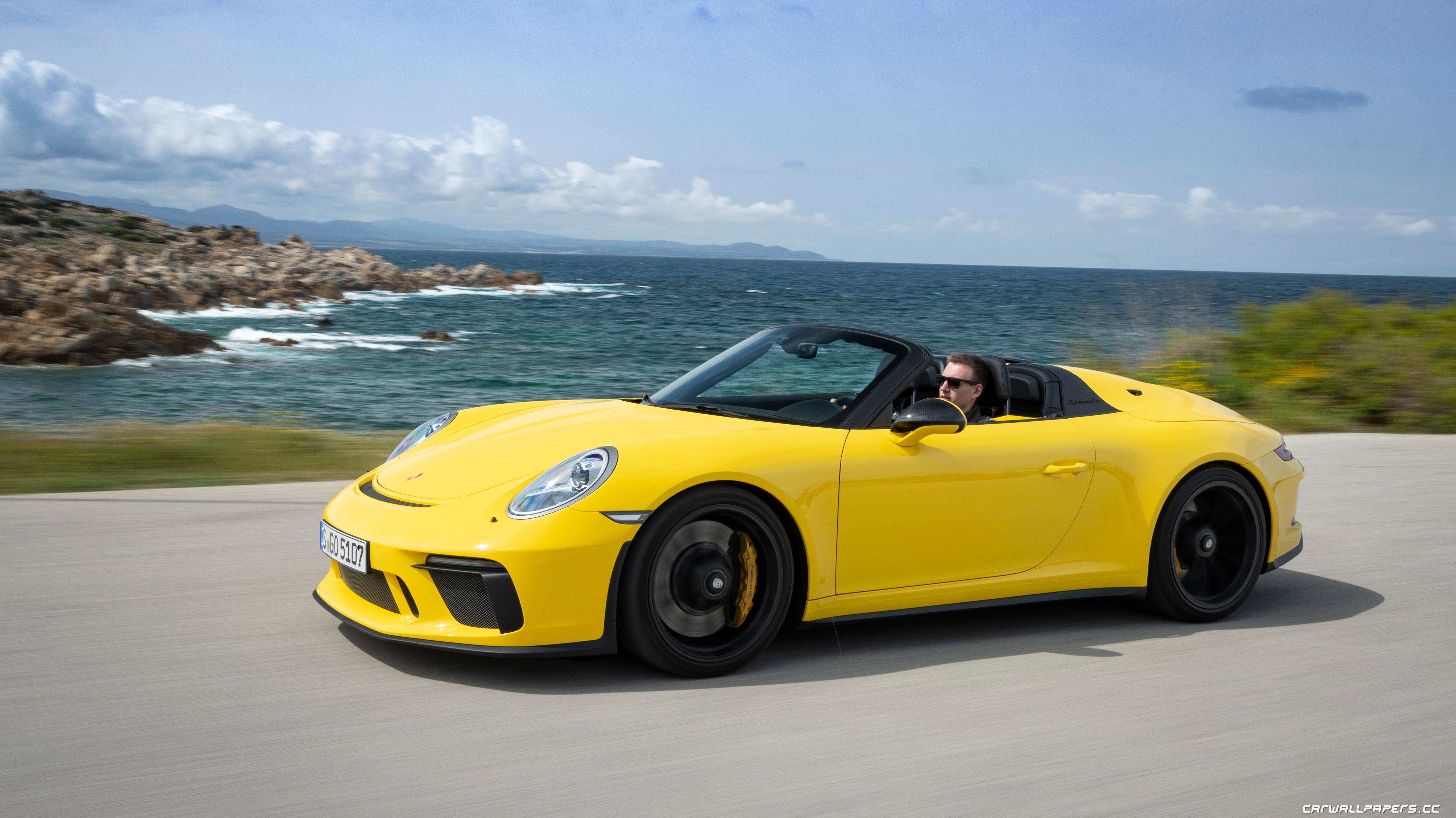 Cars Desktop Wallpapers Porsche 911 Speedster Racing Yellow 2019