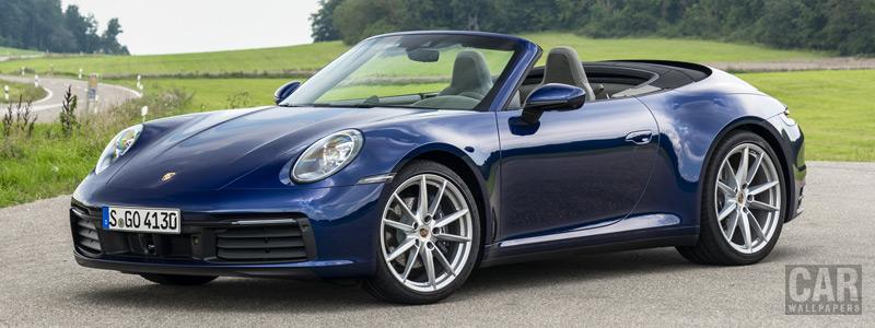 Cars wallpapers Porsche 911 Carrera Cabriolet (Gentian Blue Metallic) - 2019 - Car wallpapers