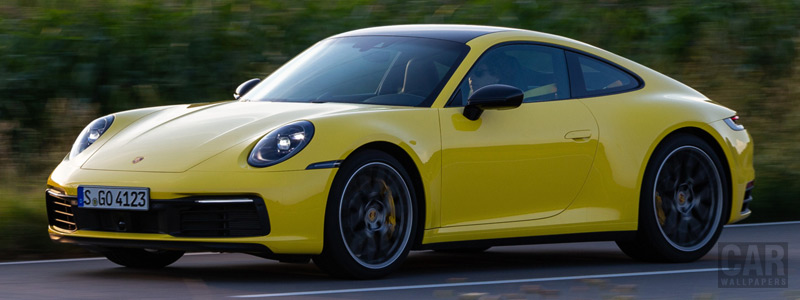 Cars wallpapers Porsche 911 Carrera Coupe (Racing Yellow) - 2019 - Car wallpapers