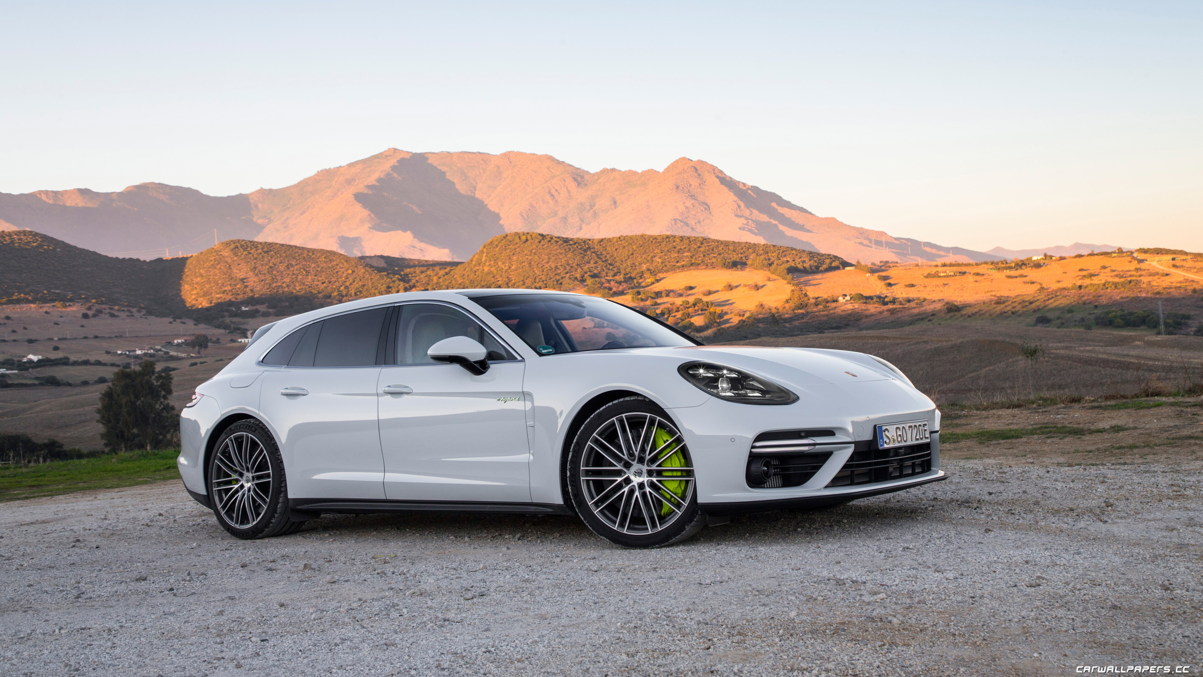 Cars Desktop Wallpapers Porsche Panamera Turbo S E Hybrid Sport Turismo Carrara White Metallic 2017