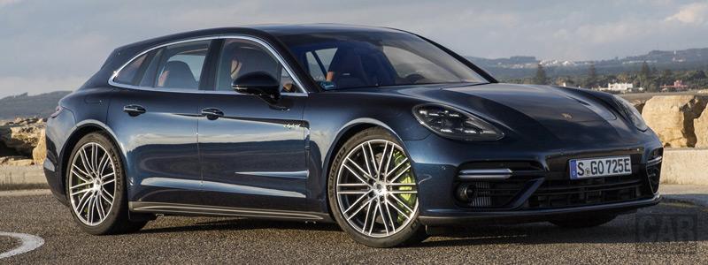 Cars Desktop Wallpapers Porsche Panamera Turbo S E Hybrid Sport Turismo Night Blue Metallic 2017