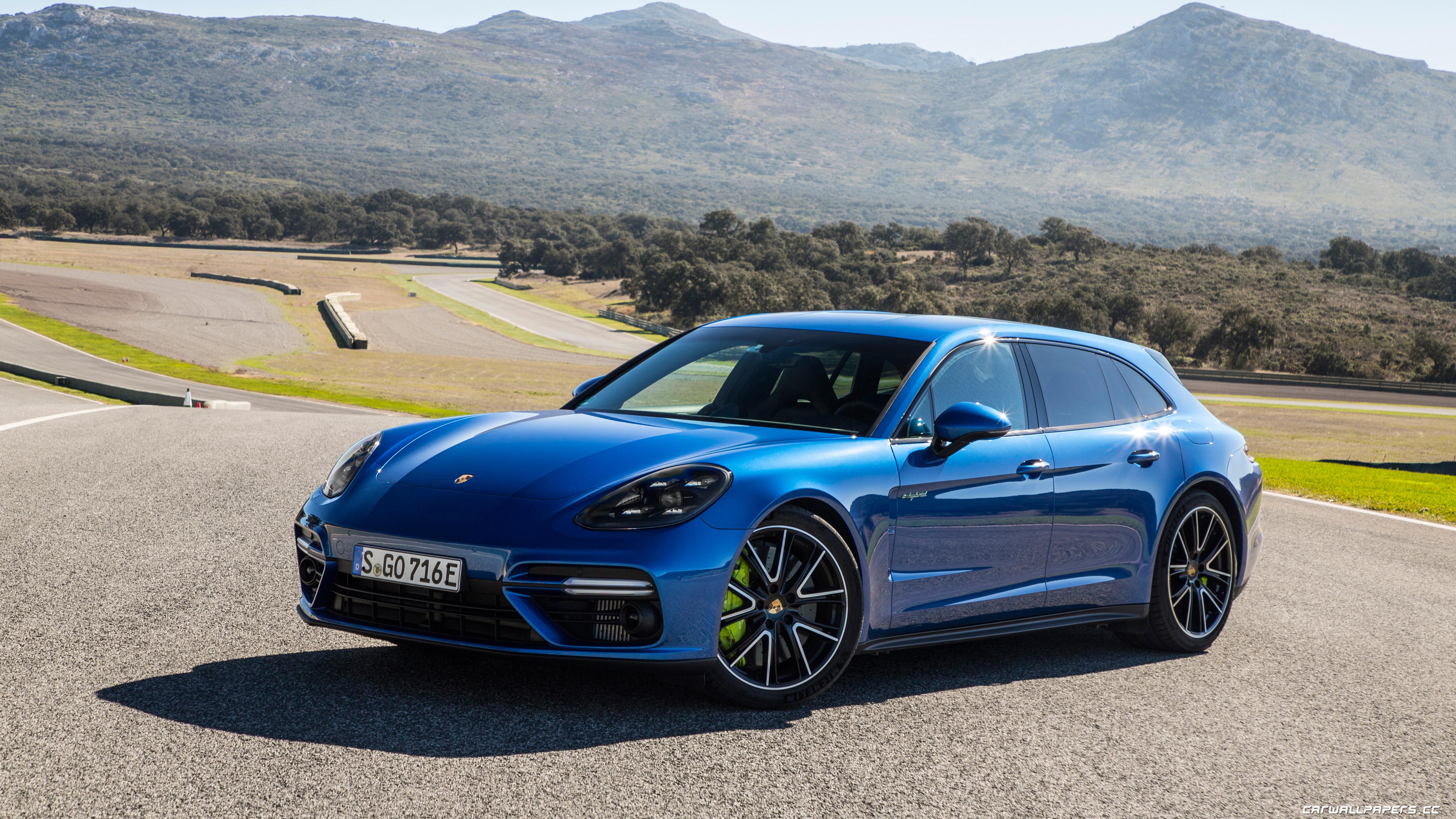 Cars Desktop Wallpapers Porsche Panamera Turbo S E Hybrid Sport Turismo Sapphire Blue Metallic 2017